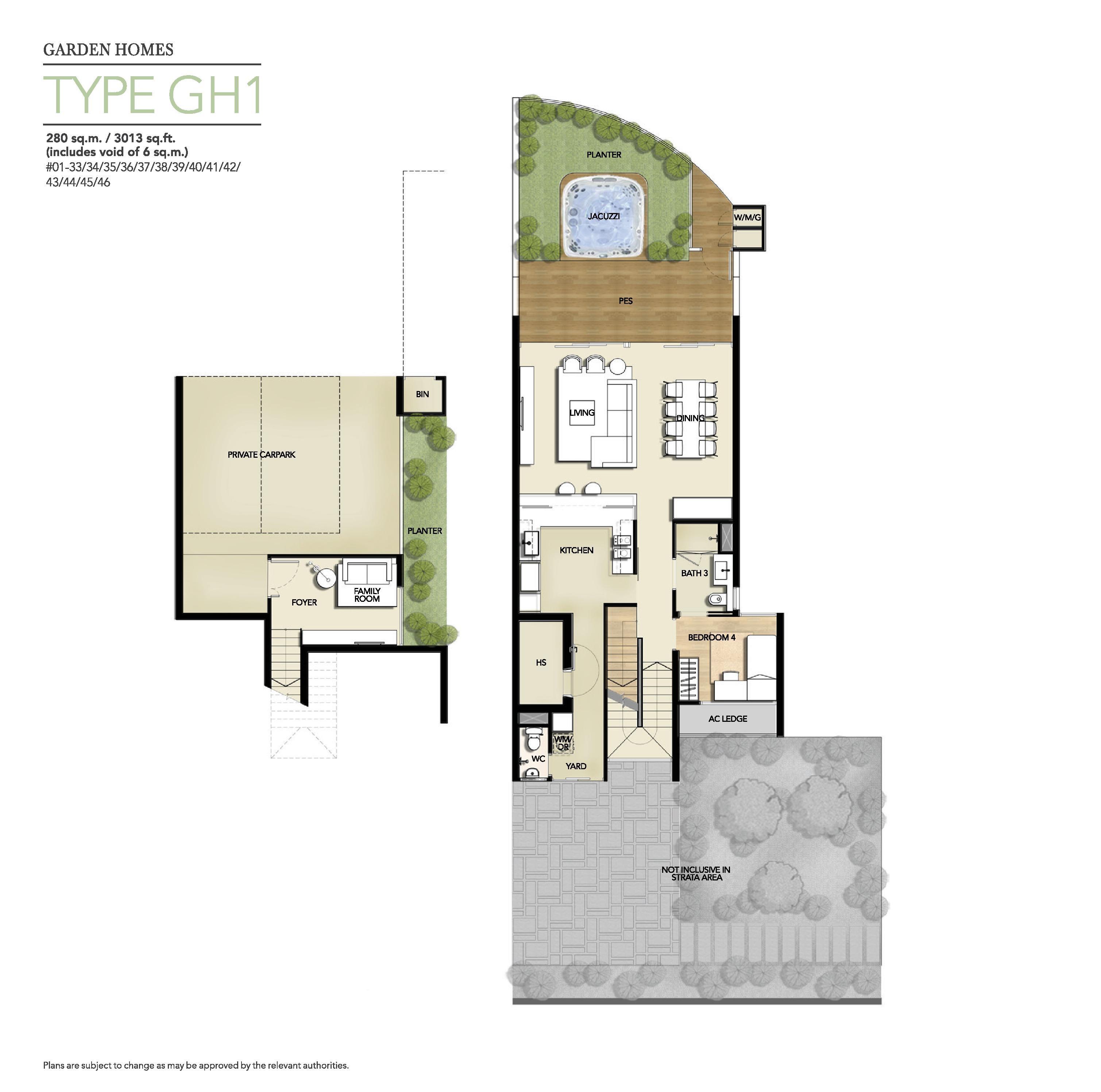 Palm Isles 4 Bedroom Garden Homes Type Gh1 Lower Level Floor Plans